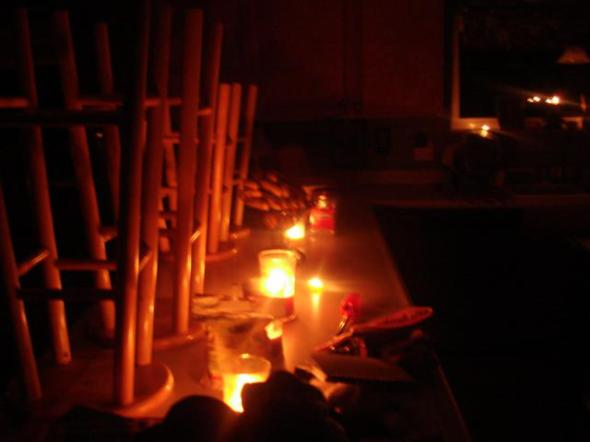 candles on the counter