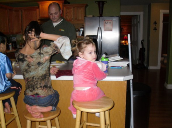 Uncle Gwen cooking up a storm!