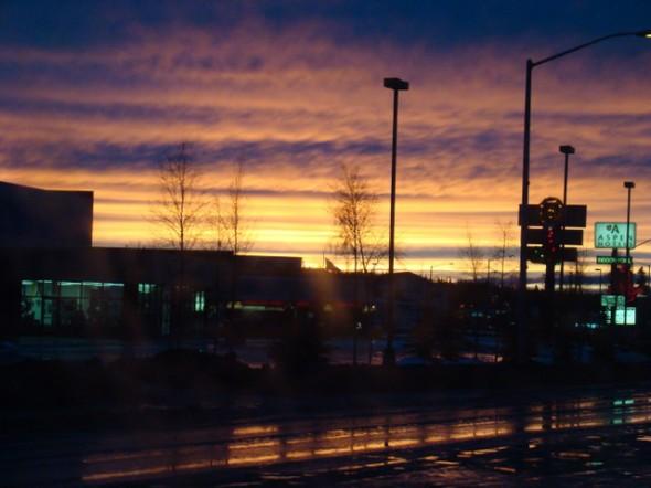 Beautiful skies on the way home.