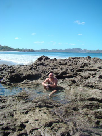 I found a great natural hot tub, some may call it a tidepool.