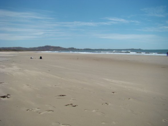 Packed beach