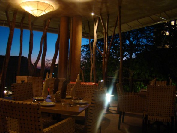 our dinner spot, it was very nice, great night breeze