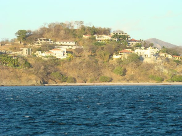 View of our house from the boat