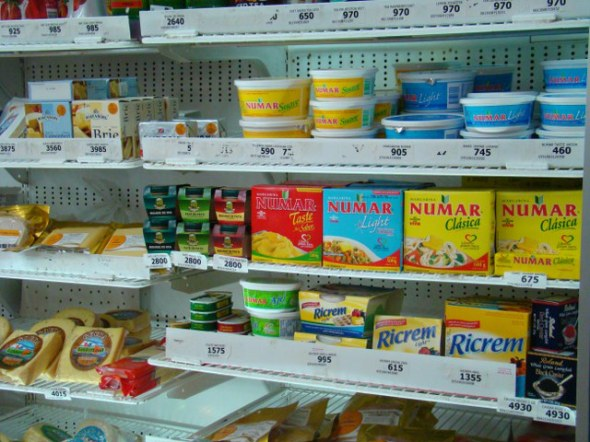Small grocery store items, typical items.