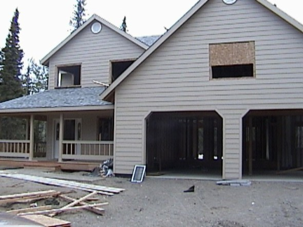 Our first Soldotna house being built