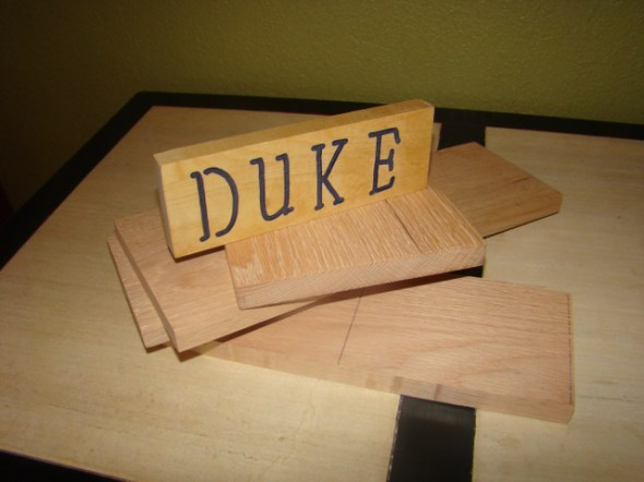 "At least he got the ""DUKE"" sign done, that's something."