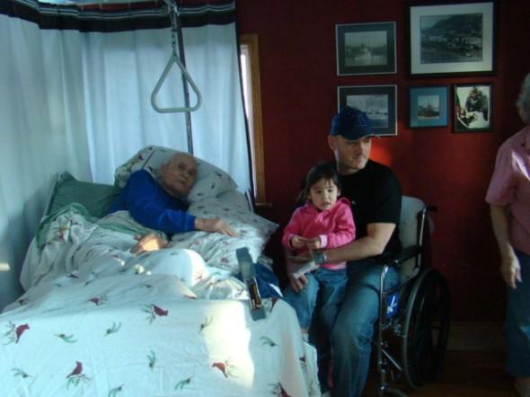 Grandpa, Jo and Glenn this past December
