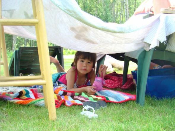 a redneck slide must have a redneck fort