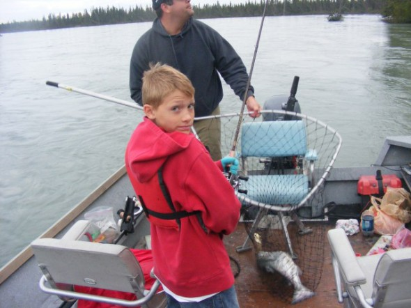 Benny with one in the boat now what.............