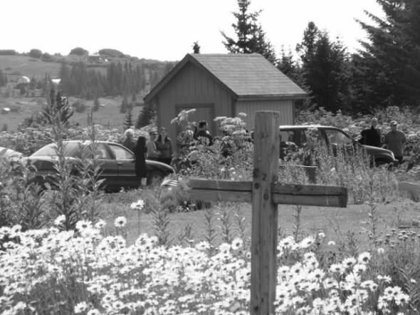 Grandpa's burial site, overlooking Homer. (Not his cross)