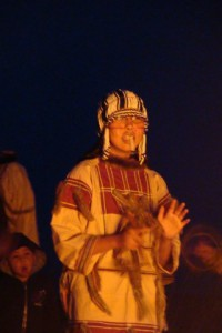 One of the dancers